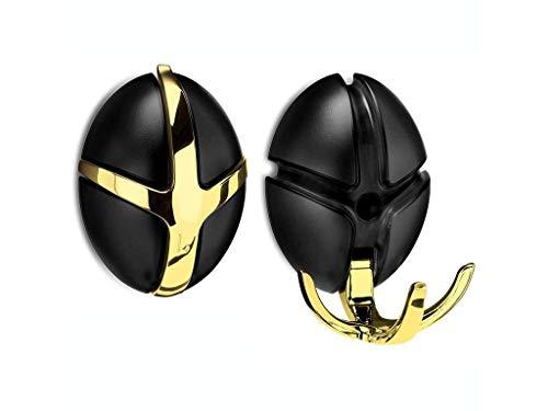 SPINDER Tick wandkapstok zwart/goud HD600-30-02