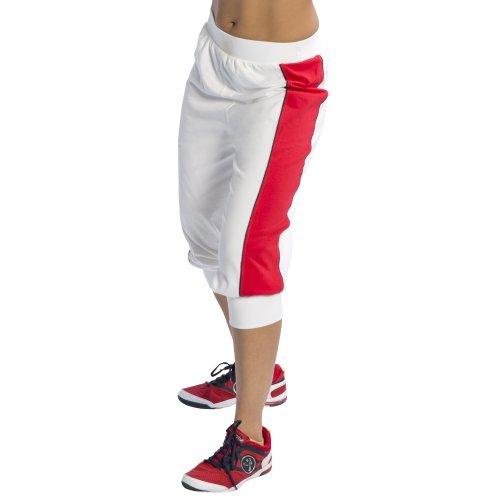 Zumba Fitness Damen Hose UK Eclipse Capri, Field Paint White, S