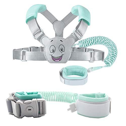 Muñequera anti pérdida para niños, arneses de seguridad para niños pequeños,Cinturonesy Pulsera 2 en 1 kit de Combinación, 1.5M Correa Seguridad Ajustable