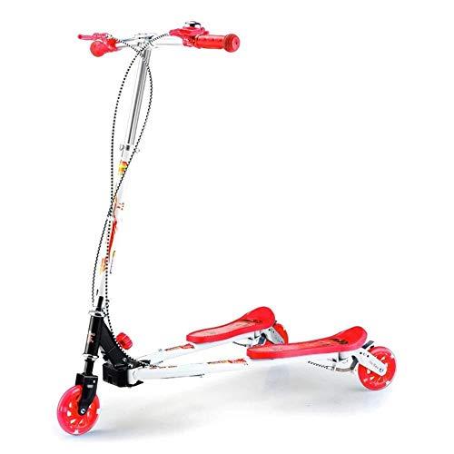 Best Buy! LAOHAO 3 Flash Wheel Scooter Adjustable Damping Frog Car Girl Boy Folding Kick Scooter (Co...