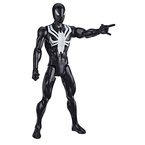 Hasbro Marvel Spider-Man: Titan Hero Serie Black Suit Spider-Man, 30 cm große Superhelden Action-Figur