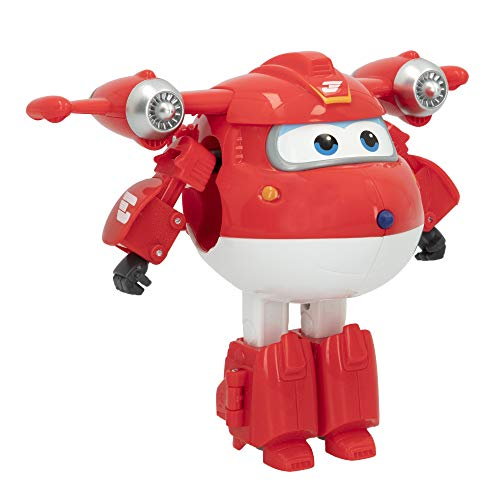 Super Wings - Figura Jett Super Wings transformable, Superwings transformables, Figuras de juguete, Robot Avión Juguete, Superwings transformables, Super Alas, Avión juguete, Super Wings juguetes