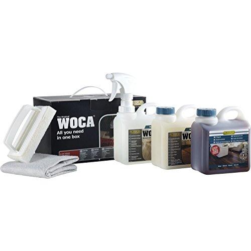 WOCA 699962-N Pflegebox mit Pflegeöl Natur