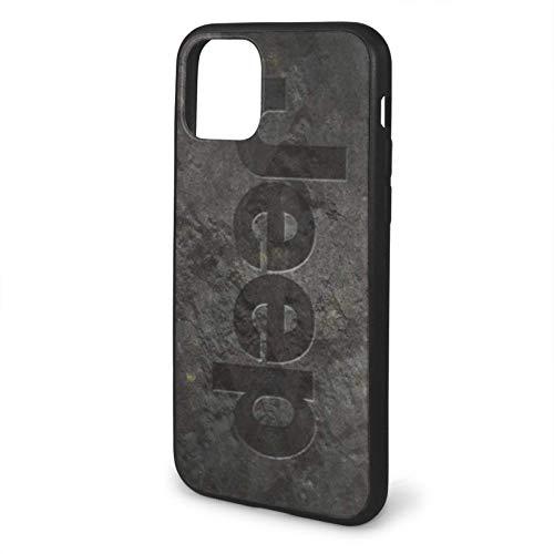 hotrilicoc Compatible con iPhone 12/12 Pro MAX 12 Mini 11 Pro MAX SE X/XS MAX XR 8 7 6 6s Plus Funda Jeep Rock Logo Negro Cajas del Teléfono Cover