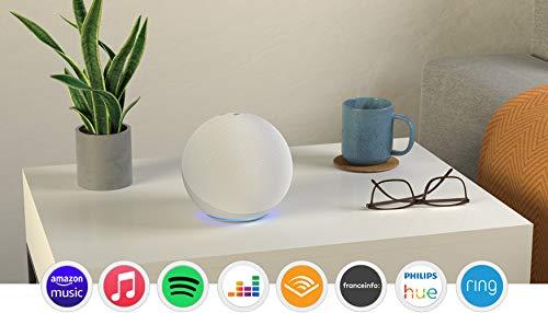 Echo (4e génération), Avec son premium, hub connecté et Alexa, Blanc