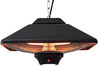 Aktobis Chauffage Rayonnant de Plafond, Chauffage de Balcon, Chauffage de Tente WDH-200LS (noir + jusqu'à 2.000 Watt + lam...
