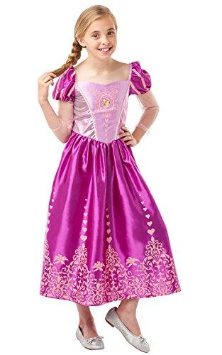 Rubie's 640722L Costume officiel Disney Princesse Raiponce Gem pour fille Taille L (âge 7-8 ans, hauteur 128 cm)