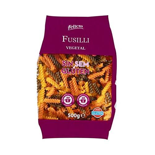 Felicia - Gemüse-Fusilli - Nudeln aus Maismehl, Spinat und Tomate - Glutenfrei - 500 Gramm