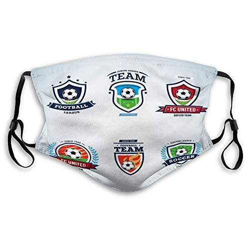 Cover Voetbal Logo Voetbal Logo Set Voetbal Crests Logo Sjabloon Emblemen logotypes Concepten Voetbal