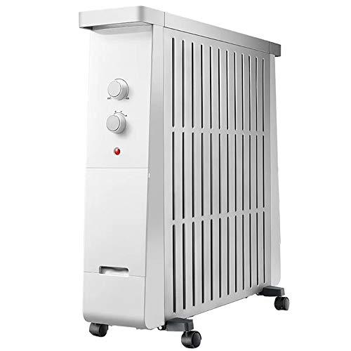 XKHG Heizkörper - 2200W 13 Fin Portable Electric Slim Heater - 3 Leistungsstufen, Einstellbare Temperatur/Thermostat, Sicherheitsabschaltung