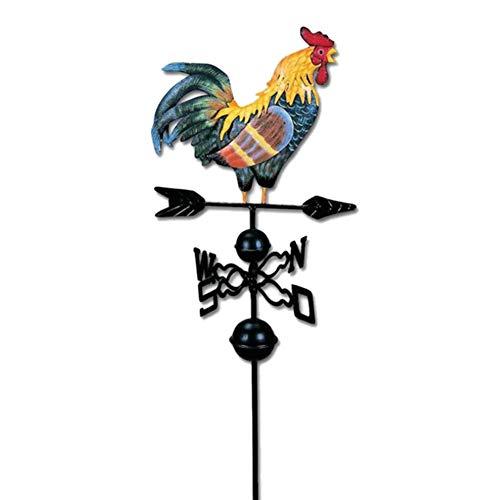 DHFD 3D Wetterhahn Motiv Hahn Retro Wetterhah, Windrichtungsanzeiger Windspiel, Windspiel Wetterfahne betreff Dach Dekofigur Hahn Terrasse Hof Ornament Dekoration