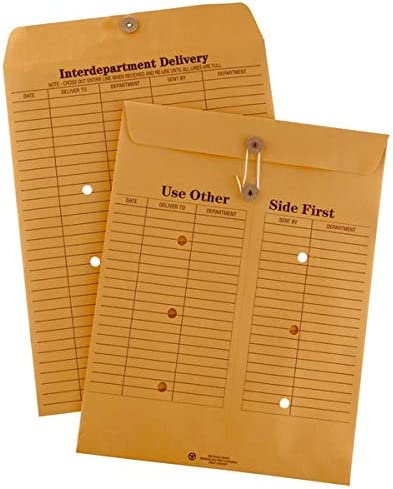 Office Depot Brand Interdepartment Envelopes 10 x 13 Brown Box of 100 product image
