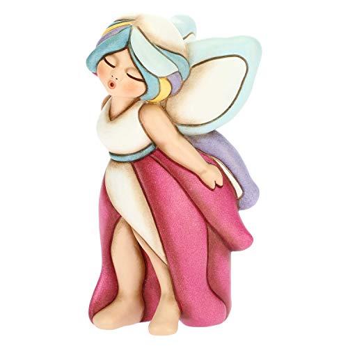 THUN - Stella, Fata del Cielo con Capelli Color Arcobaleno - Soprammobile Fatina - Accessori per la Casa - Formato Medio - Ceramica - 7,4 x 5,5 x 13,3 h cm