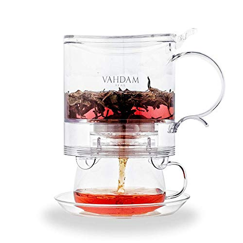 VAHDAM, Imperial Tea Maker, 16 oz, Bottom Dispensing Tea Pot | 100% SAFE | Drain-Tap Technology, All-in-one Tea Kit | Best Tea Pot with Infusers for Loose Tea | Tea Steeper | Gift for Tea Lovers