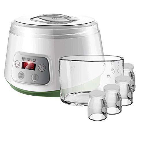 N&O Automatic Multifunctional Yogurt Machine with Thickened Glass Liner 4 Small Cups Homemade Natto Rice Wine Machine