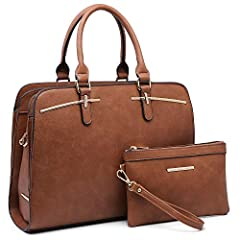 [ High Quality Material ] This satchel bag for women is made of high quality VEGAN LEATHER (PU). Eco-friendly and No animals were harmed. Highly anti-scratch and tear-resistant, not easy to be out of shape. [ Stylish Design ] Detailed with high quali...