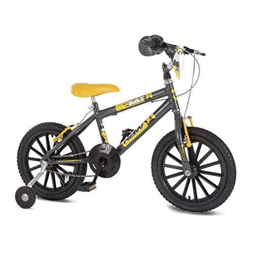 Bicicleta Infantil Rainbow Bike Aro 16 Bat com Simulador de Acelerador e Rodinhas Laterais