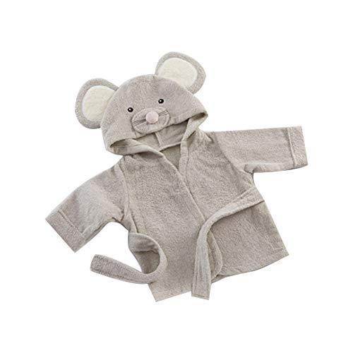 regalo para el invierno Naisicatar rata encapuchada Albornoz Kids Ni/ño franela Albornoz unisex de los ni/ños del traje pijama de la ropa de noche linda del rat/ón 47in