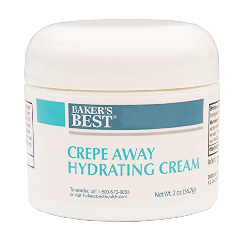Baker's Best Crepe Away Hydrating Cream | Moisturizing, Anti-Aging Skin Cream for Saggy, Crepey Skin | Skin Tightening - 2 Ounce