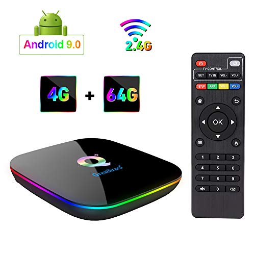 Greatlizard Android 9.0 Q Plus TV Box 4GB RAM 64GB ROM 4K HD