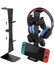 Soporte para Controlador de Juegos para Nintendo Switch/Xbox/Playstation PS4,Accesorios universales Gamepad,Controlador de Juego Dual MiiKARE y Soporte para Auriculares-Nergo