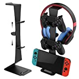 Universal Game Controller Stand Holder for Nintendo Switch/Switch lite/Xbox 360 / Xbox one/Playstation PS4. Full Set of Joystick Headphone Stand Hook Organizer for Your Video Game Accessories