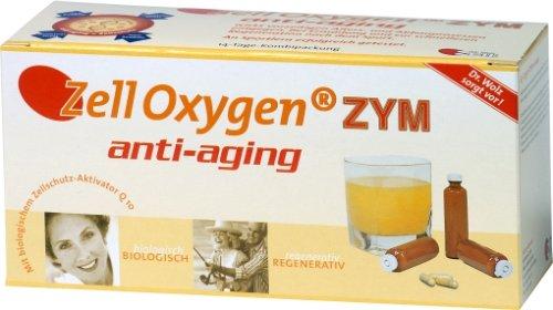 Zell Oxygen ZYM anti-aging von Dr. Wolz, bioaktive Mikronährstoffkombination für die Regeneration der Zellen, 14x 20ml Ampullen + 14 Kapseln
