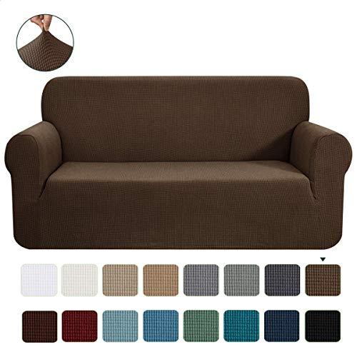 CHUN YI 1-Stück Jacquard Sofaüberwurf, Sofaüberzug, Sofahusse, Sofabezug für Sofa, Couch, Sessel, mehrere Farben (2 Sitzer, Coffee)