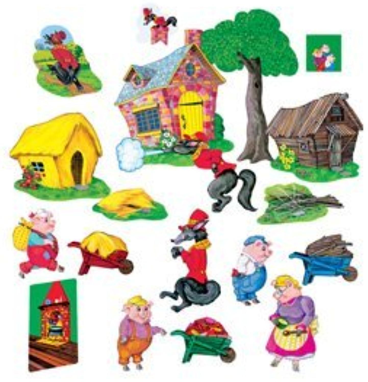 Three Pigs Felt Set by Little Folk Visuals [Toy]