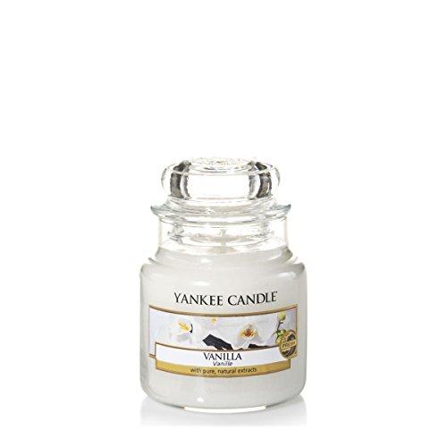 Yankee Candle kleine Duftkerze im Glas, Vanilla, Brenndauer bis zu 40 Stunden