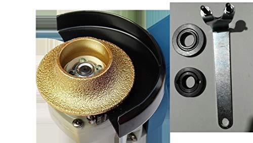 1 inch Demi Bullnose Half Bullnose Roundover Coarse Diamond B25 Hand Profiler Router Bit Profile Wheel with 5/8-11 Thread connector for Granite Concrete Marble glass Travertine Countertop Edge