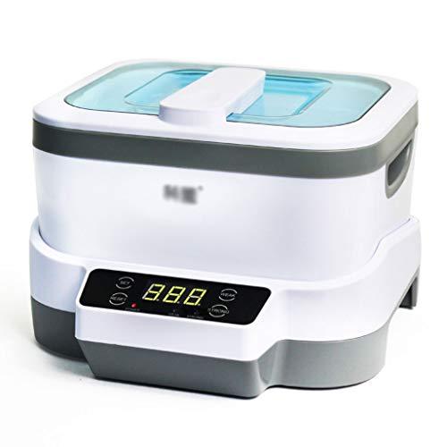 Ultraschallreinigungsmaschine, automatische Reinigungsmaschine für die Ultraschallreinigungsmaschine, ausgerüstet mit Edelstahl-Behälter, Korb und Uhr-Klammer (Farbe : Weiß)