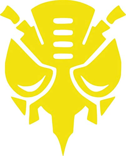 Bumblebee Transformers Vinyl Decal Sticker for Window ~Car ~ Truck~ Boat~ Laptop~ iPhone~ Wall~ Motorcycle~ Helmets~ Gaming Console~ Size 9.68' x 12' BRIMESTONE Yellow
