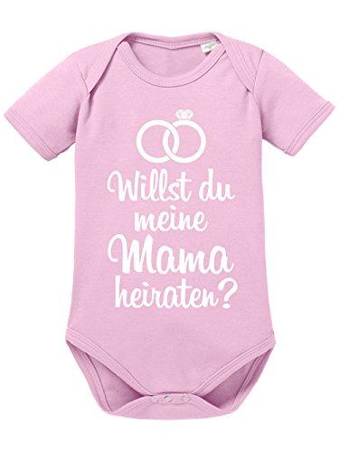 clothinx Baby Body Unisex Willst du Meine Mama heiraten Hellrosa/Weiß Gr. 86-92