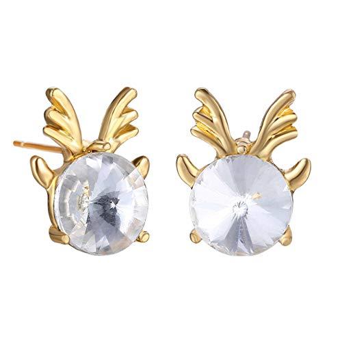 jieGorge Earrings, Christmas Earrings Cartoon Christmas Earrings Ladies Earrings, Jewelry for Women Gifts (A)