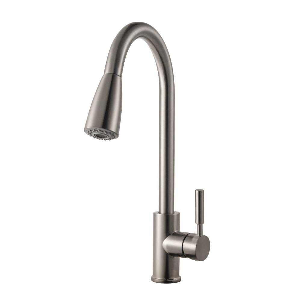 kitchen tap with pull out hose amazon co uk rh amazon co uk Cabinetry Pull Outs Kitchen Pull Out Counter Space