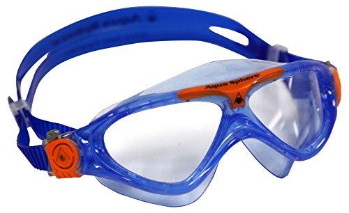 Aqua Sphere Kinder Schwimmmaske Vista Junior Klare Gläser - Blau/Orange