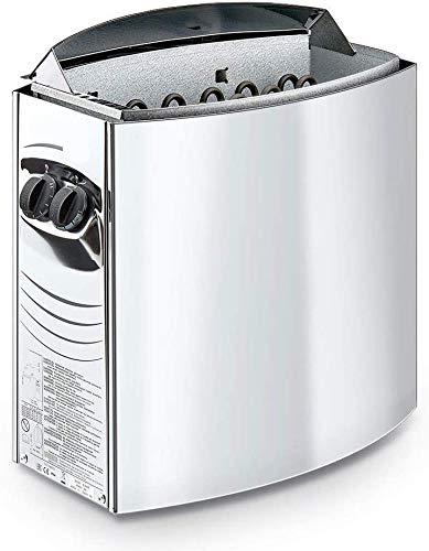 UIGJIOG Estufa eléctrica para la Sauna con Controles, Estufa eléctrica para la Estufa de Sauna de 4.5kw para Montaje en Pared Adecuado para un Volumen de 3 a 6 Metros cúbicos