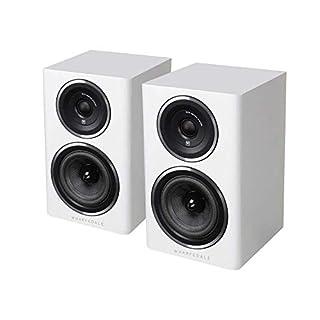 Coppia diffusori da scaffale, 2 vie, bass reflex, woofer in kevlar da 10 cm, tweeter a cupola morbida da 2.5 cm Sensibilità 85 dB, impedenza 8 ohm, potenza 75 W Colore: bianco
