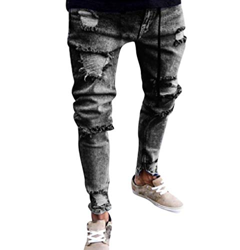Hombre Pantalones De Mezclilla Elasticos Flacos Para Hombre Pantalones Vaqueros Rotos Hombre Jeans Ajustados Rasgados Desgastados Xinantime Pantalones De Hombres Ropa Centrocen Cl