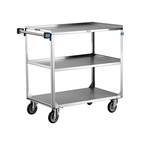 Lakeside 444 Utility Cart, Stainless Steel, 3 Shelves, 500 lb. Capacity (Fully Assembled)