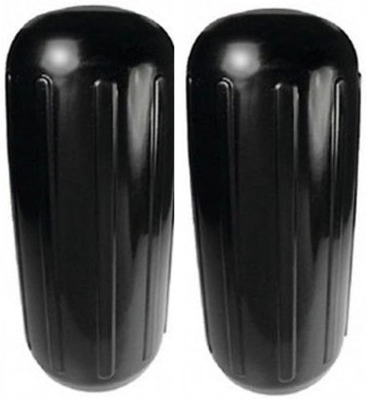 RIBBED CENTER HOLE FENDER BLACK. 2-PK, 10'' X 25''