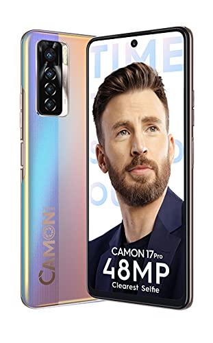 Tecno Camon 17 Pro (Arctic Down, 8GB RAM, 128GB Storage) | 48MP Selfie Camera | 64MP Quad Rear Camera, 6.8 inch with Center dot-in Display