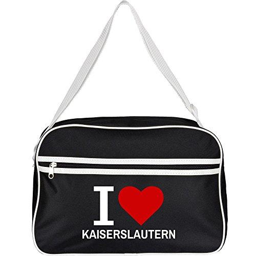 Retrotasche Classic I Love Kaiserslautern schwarz