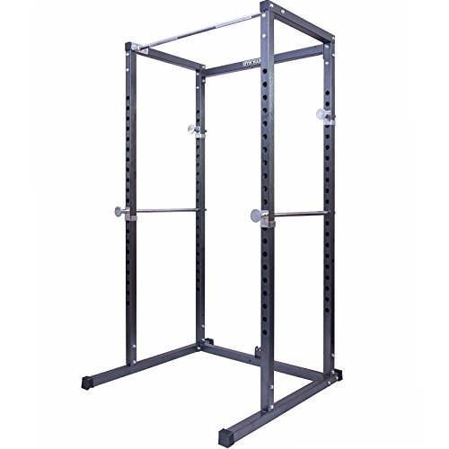 GYM MASTER Heavy Duty Power Rack Weight Lifting Cage & Pull Up Bar