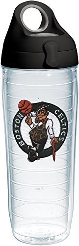 Tervis NBA Boston Celtics Primary Logo Tumbler with Emblem and Black with Gray Lid 24oz Water Bottle, Clear