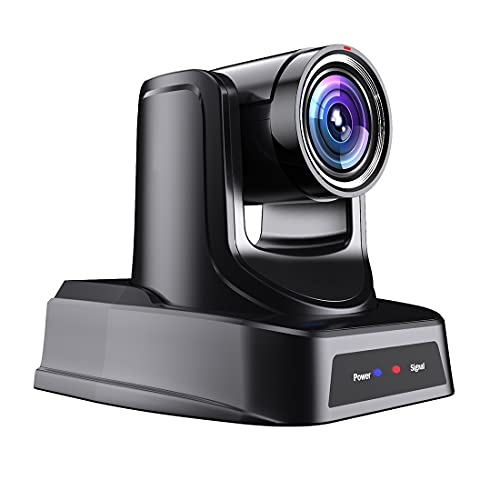 SMTAV PTZ Camera with 3G-SDI,HDMI and IP Streaming Outputs,30X Optical Zoom,Video Conference Live Streaming Camera for Broadcast,Conference,Events,Church and School etc (30X, Camera)
