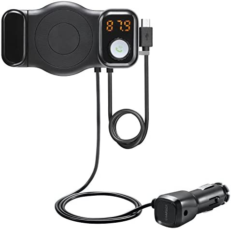 Bluetooth Car FM Transmitter Bluetooth Receiver and Car Phone Mount with USB Car Adapter Handsfree product image