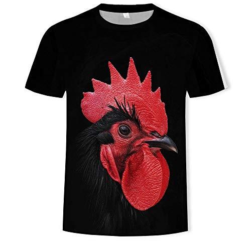 Tee Shirt T-Shirt 3D pour Homme avec Couronne Rouge Et Grosse Bite-0101_S