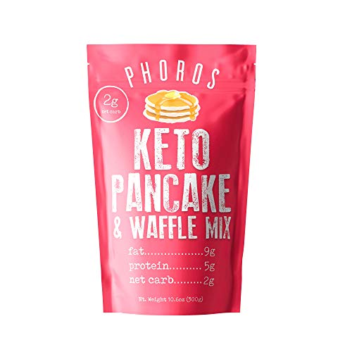 Keto Pancake & Waffle Mix by Phoros Nutrition, Low Carb, High Protein, Low Glycemic, Keto Friendly, Gluten Free, Just Add Water
